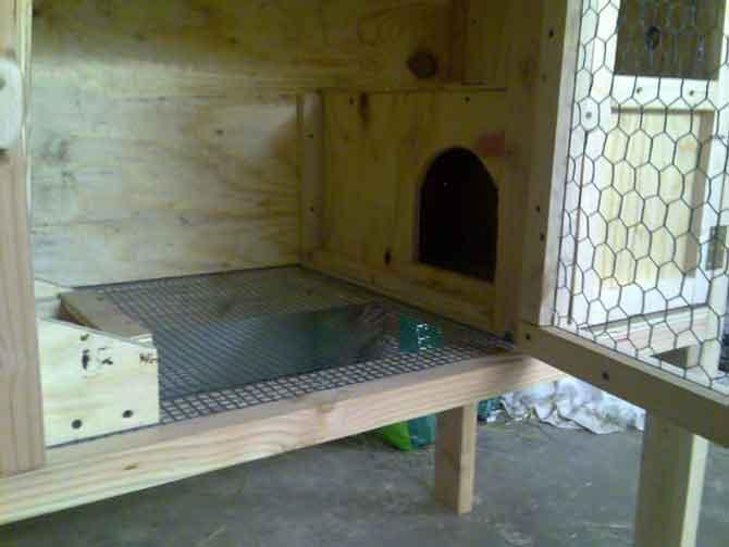 Клетка для кроликов готова.