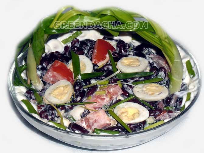 Салат из красной фасоли яйца