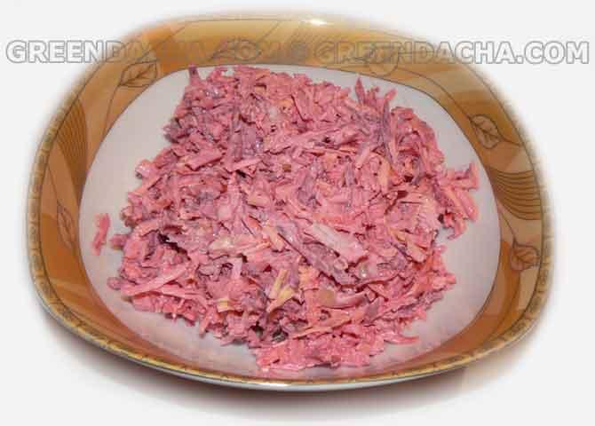Салат из редьки и свеклы вареной рецепты простые и вкусные