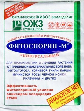 Биофунгицид Фитоспорин.