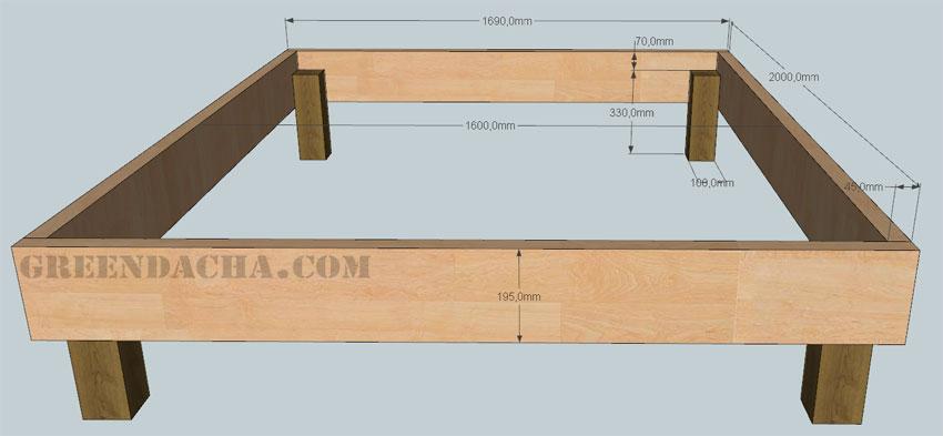 Схема сборки двуспальной кровати фото 640