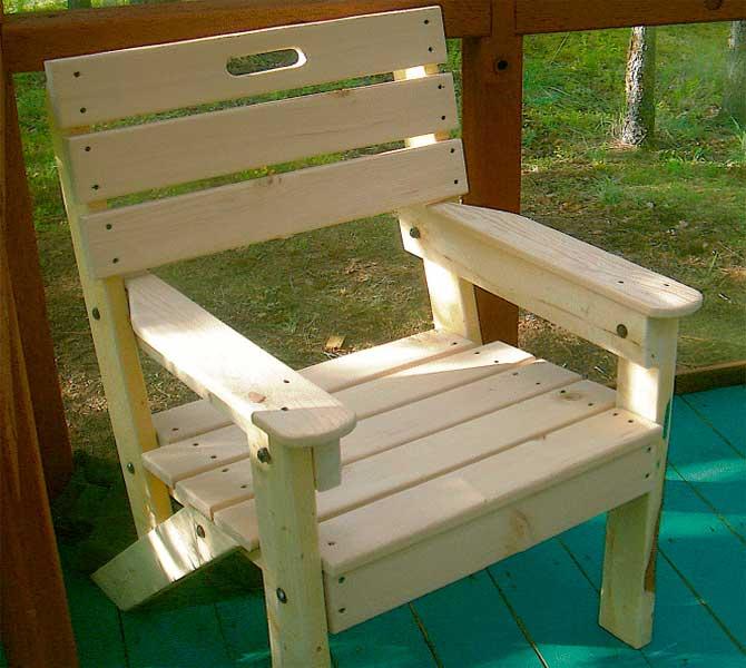 Как сделать кресло из дерева самому