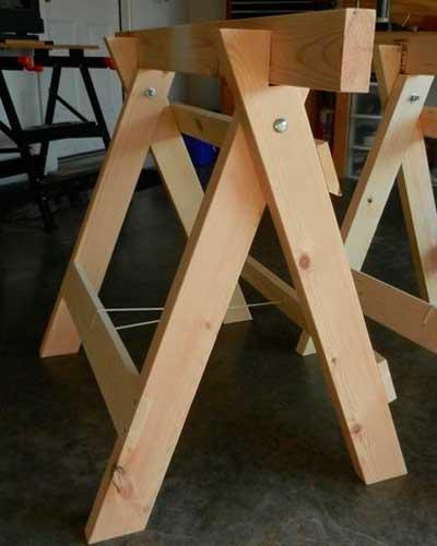 Как сделать строительные деревянные подмости (козлы)