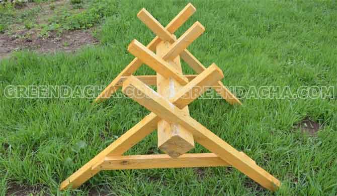Как сделать козёл для распилки дров своими руками 766