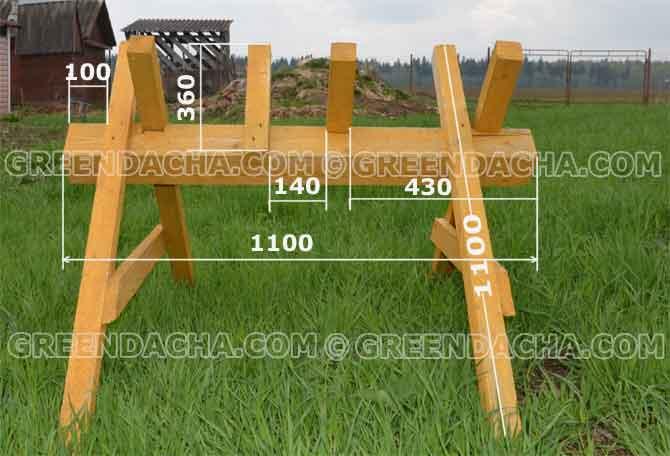 Как сделать козёл для распилки дров своими руками 864