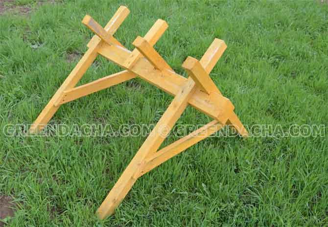 Как сделать козёл для распилки дров своими руками 669