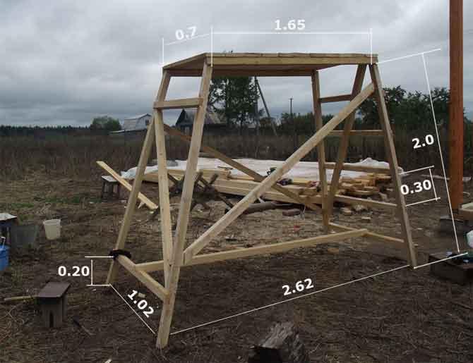 Как сделать строительные леса своими руками фото