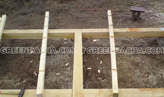 Изготовление опорных ног строительных козлов.