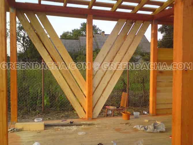 Обшиваем стены дровяника в сарае