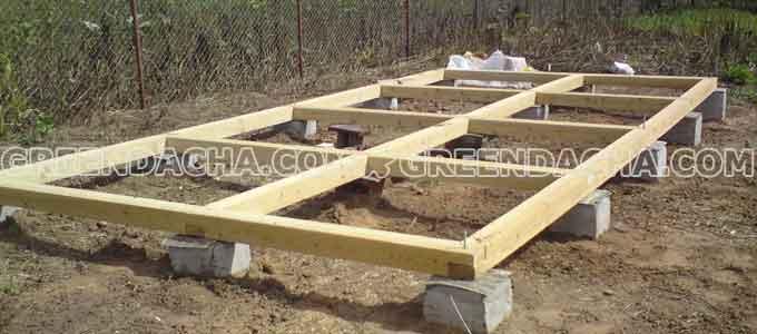 Как построить каркас сарая из бруса
